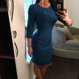 Adrianna Papell dark teal business dress